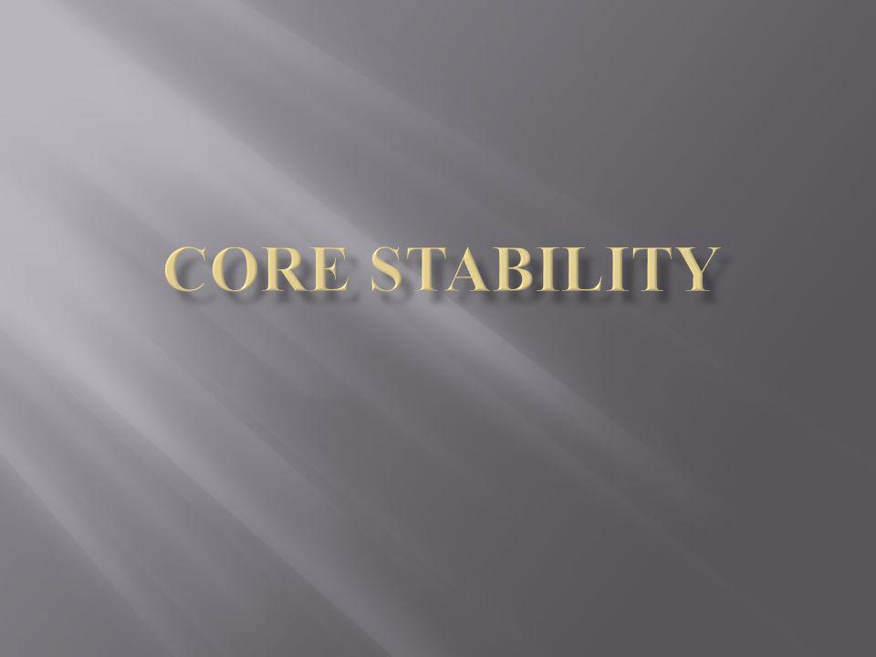E sempre più riconosciuta limportanza della funzione della Parte Centrale del corpo per la stabilizzazione e per generare forze in ogni tipo di Sport