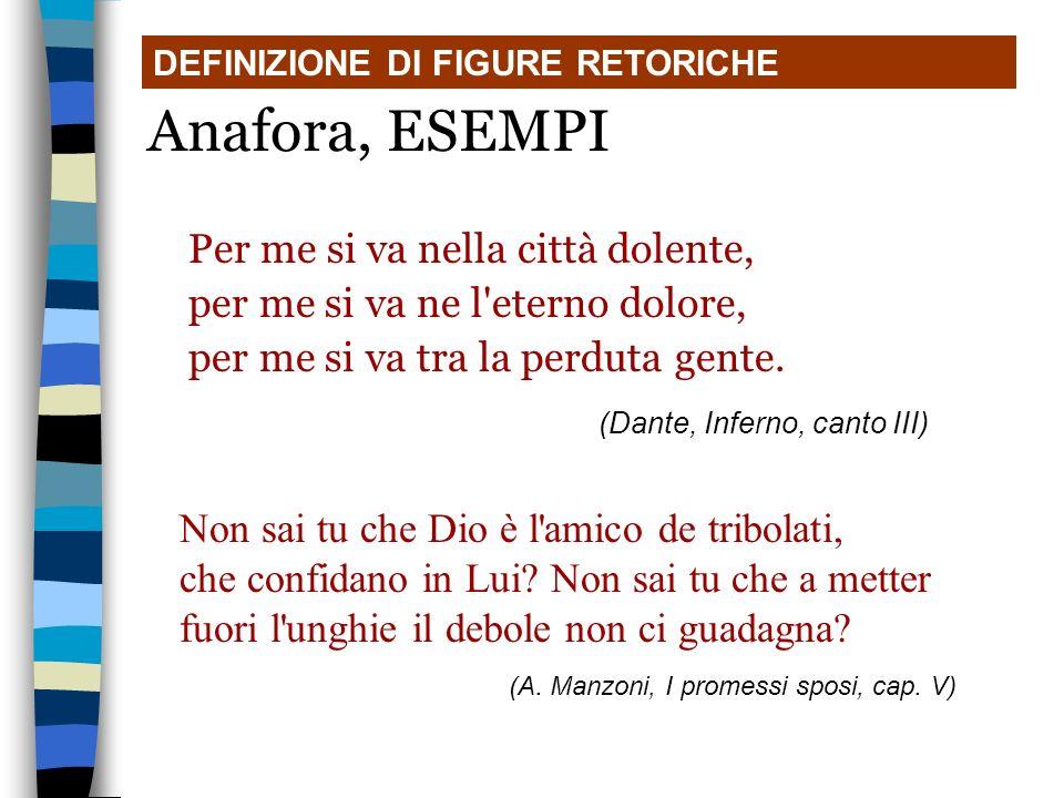 Per me si va nella città dolente, per me si va ne l'eterno dolore, per me si va tra la perduta gente. (Dante, Inferno, canto III)) DEFINIZIONE DI FIGU