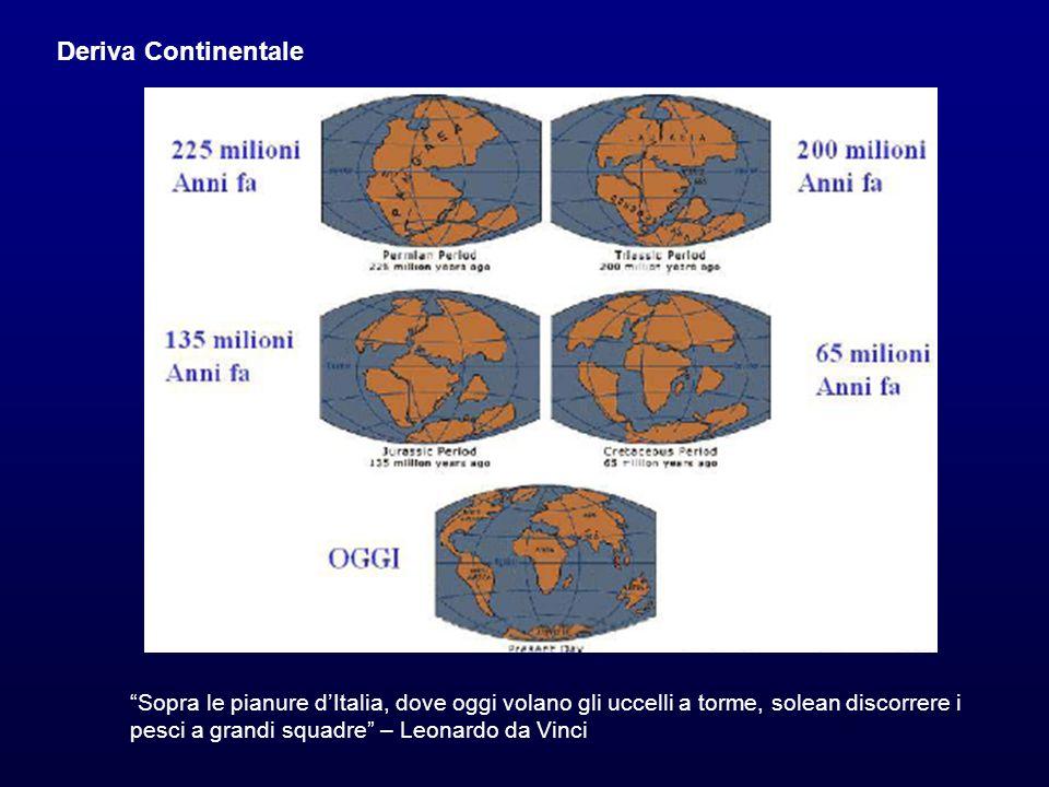 Deriva Continentale Sopra le pianure dItalia, dove oggi volano gli uccelli a torme, solean discorrere i pesci a grandi squadre – Leonardo da Vinci