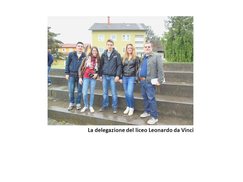 La delegazione del liceo Leonardo da Vinci