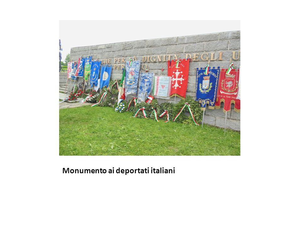 Alcune lapidi del monumento ai deportati italiani