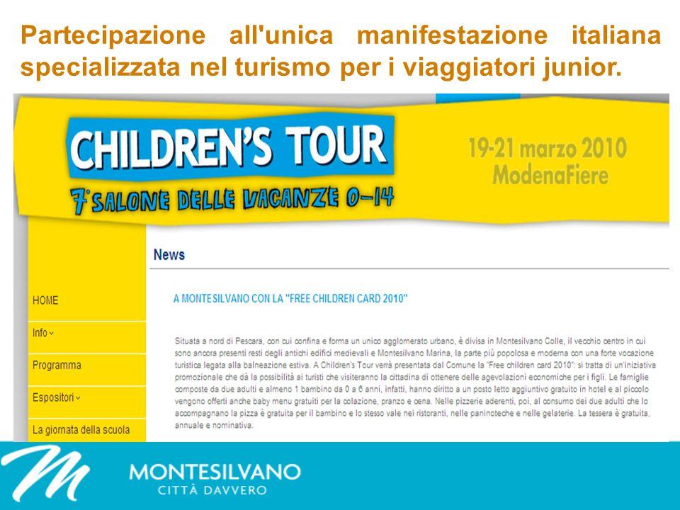 Partecipazione all unica manifestazione italiana specializzata nel turismo per i viaggiatori junior.