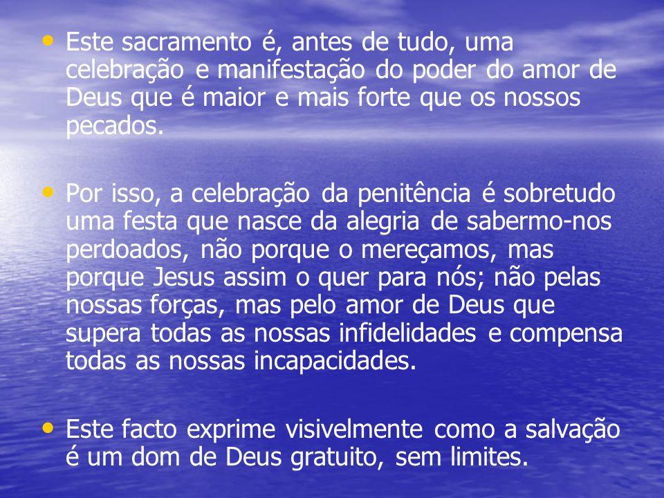 Aprofundando … O sacramento da penitência, conhecido normalmente pelo nome de confissão, é sem dúvida o mais difícil de celebrar e de viver.