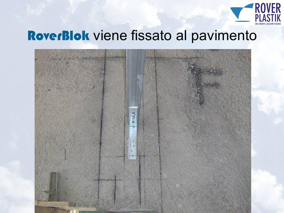 RoverBlok viene fissato al pavimento