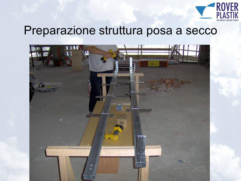 Preparazione struttura posa a secco