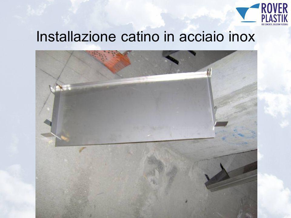 Installazione catino in acciaio inox