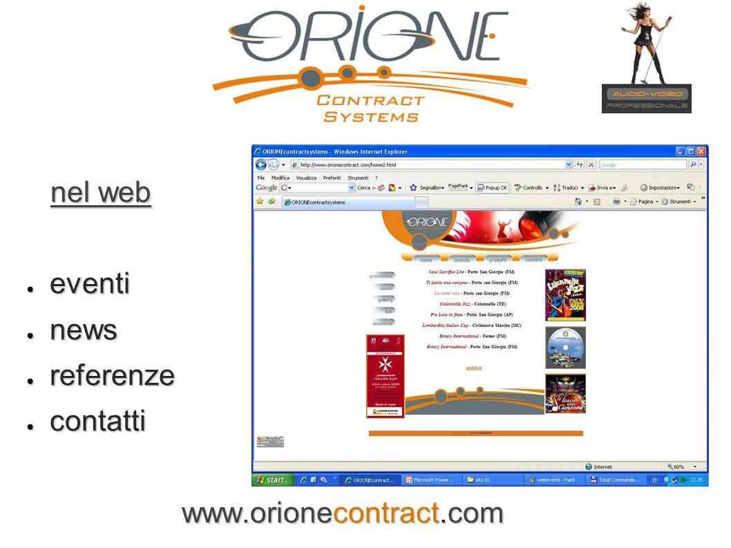 nel web nel web eventi eventi news news referenze referenze contatti contatti www.orionecontract.com www.orionecontract.com
