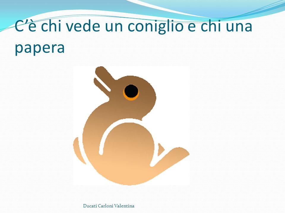 Cè chi vede un coniglio e chi una papera Ducati Carloni Valentina