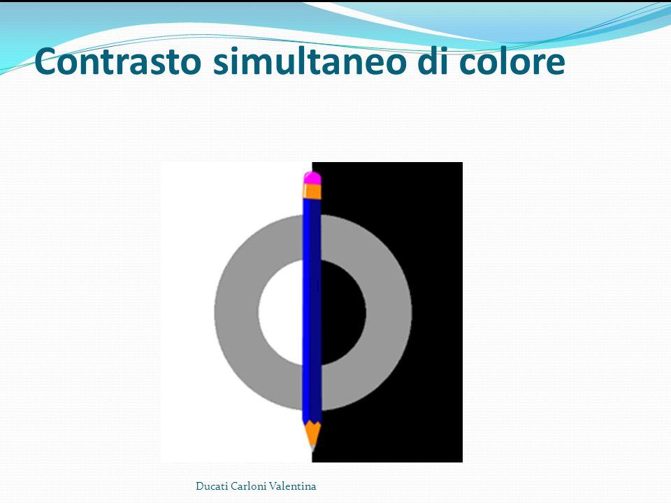 Contrasto simultaneo di colore Ducati Carloni Valentina