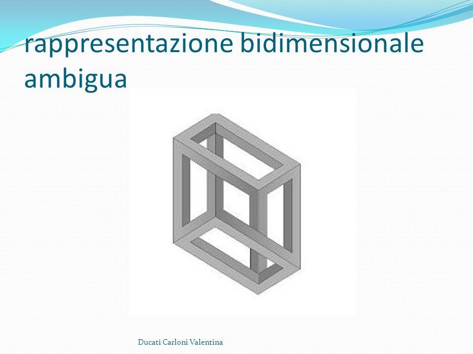 rappresentazione bidimensionale ambigua Ducati Carloni Valentina