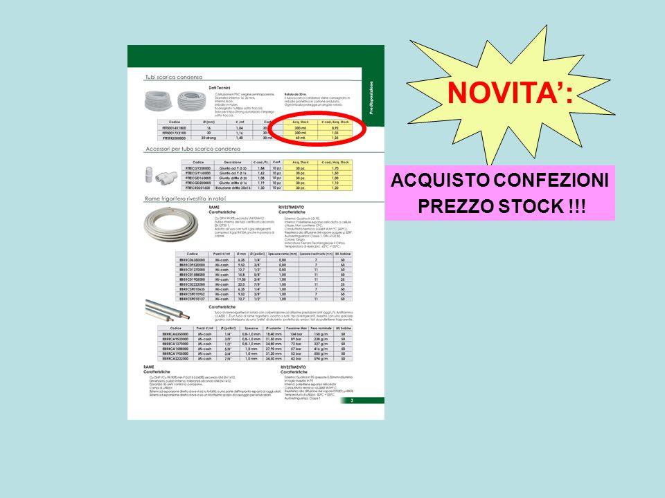 ACQUISTO CONFEZIONI PREZZO STOCK !!! NOVITA: