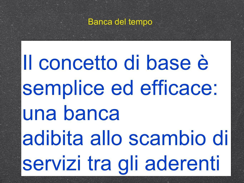 Il concetto di base è semplice ed efficace: una banca adibita allo scambio di servizi tra gli aderenti Banca del tempo