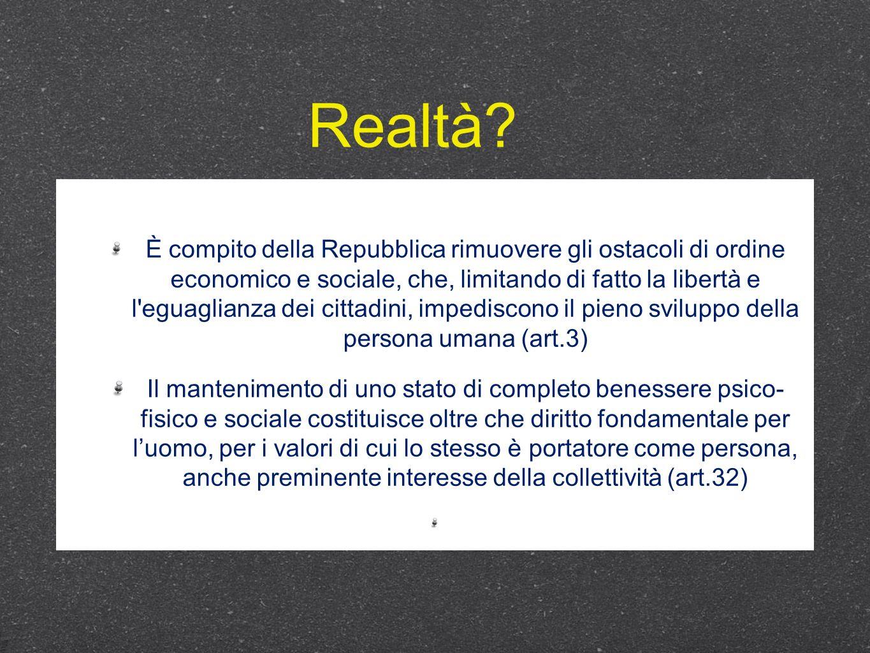 È compito della Repubblica rimuovere gli ostacoli di ordine economico e sociale, che, limitando di fatto la libertà e l'eguaglianza dei cittadini, imp