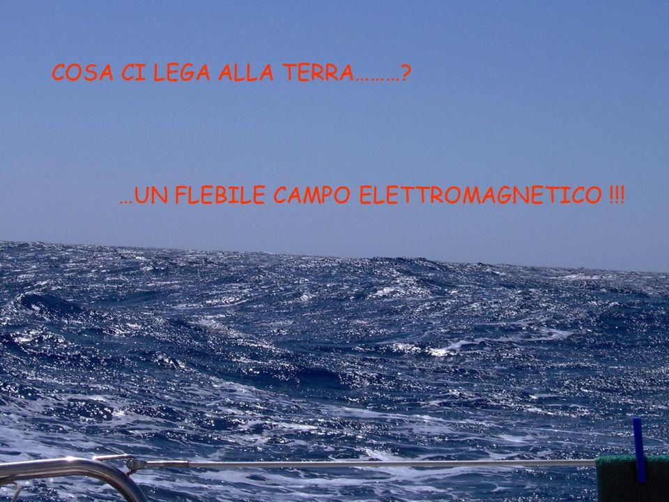 COSA CI LEGA ALLA TERRA………? …UN FLEBILE CAMPO ELETTROMAGNETICO !!!