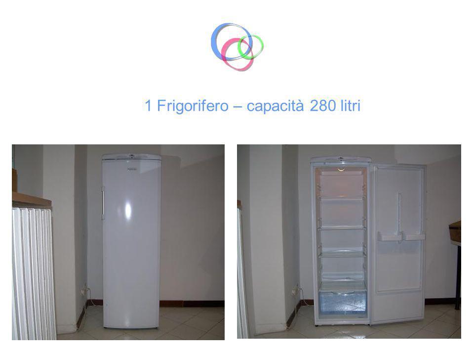 1 Frigorifero – capacità 260 litri e congelatore a cassetti – 82 litri