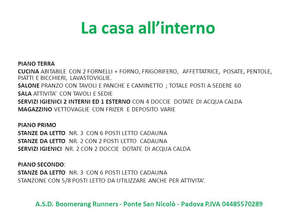 Foto interno A.S.D. Boomerang Runners - Ponte San Nicolò - Padova P.IVA 04485570289
