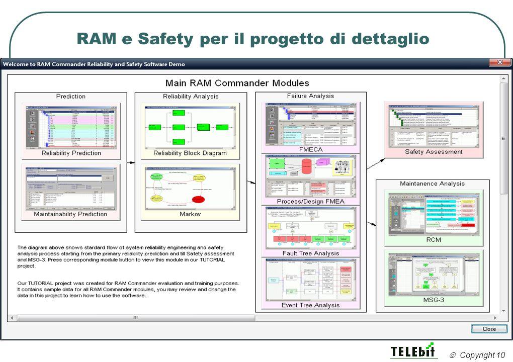 RAM e Safety per il progetto di dettaglio Copyright 10