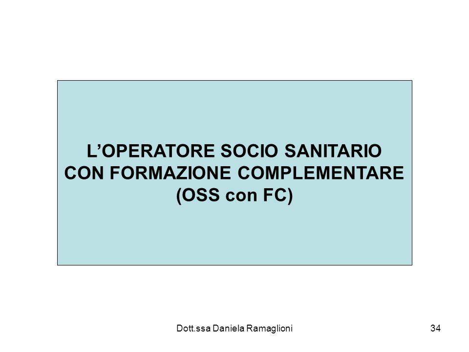 Dott.ssa Daniela Ramaglioni34 LOPERATORE SOCIO SANITARIO CON FORMAZIONE COMPLEMENTARE (OSS con FC)