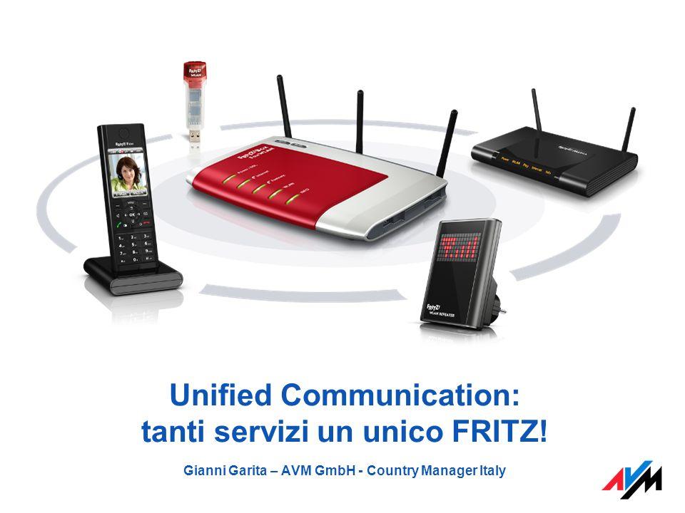 Unified Communication: tanti servizi un unico FRITZ! Gianni Garita – AVM GmbH - Country Manager Italy