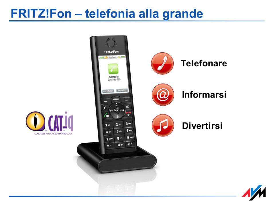 FRITZ!Fon – telefonia alla grande Telefonare Divertirsi Informarsi