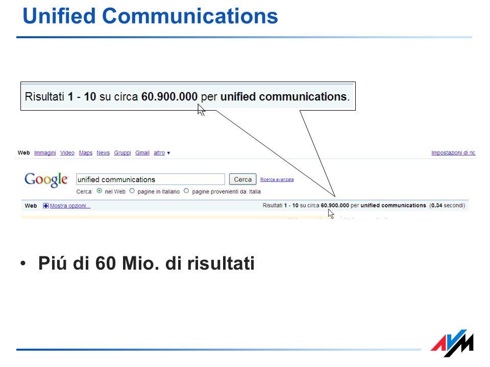 Unified Communications Piú di 60 Mio. di risultati