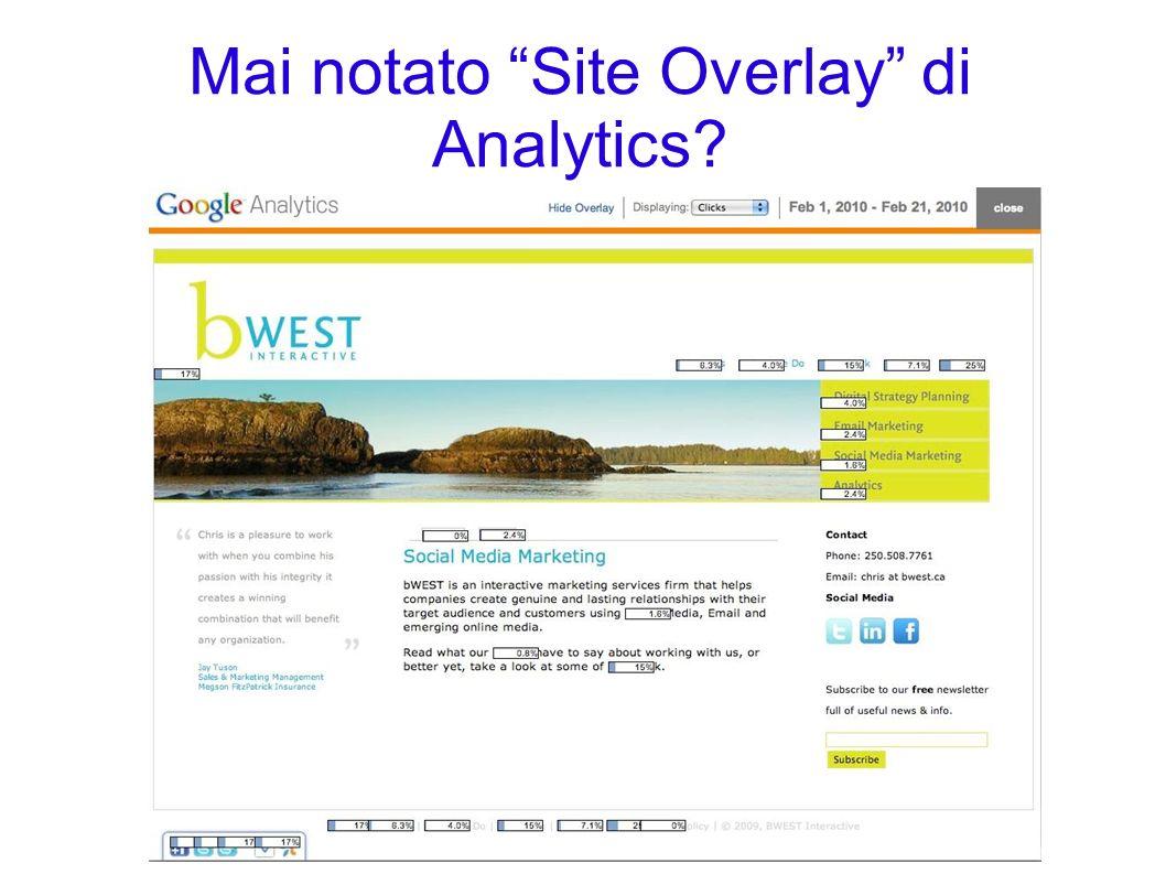 Mai notato Site Overlay di Analytics?