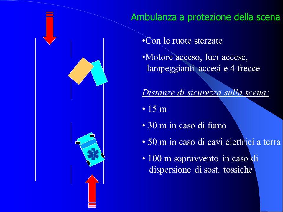 Come parcheggiare sul posto Cooperazione di più mezzi di soccorso Posizionamento di mezzi diversi in curva Presenza di fumo Cavo elettrico a terra Dis