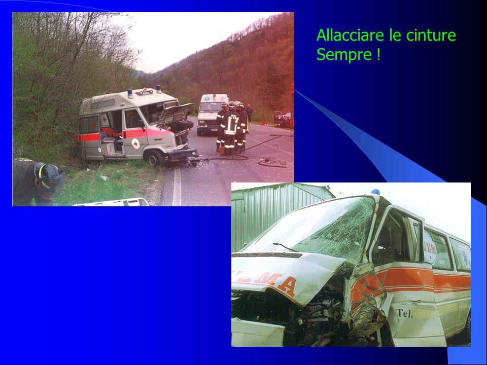 Cinture di sicurezza È però vero che in emergenza i rischi di collisione aumentano, perciò, anche se la legge lo consente, il buonsenso dice di usare
