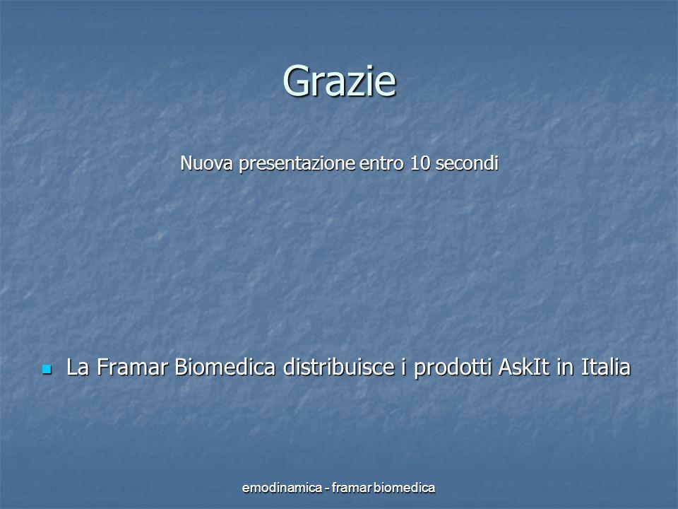 emodinamica - framar biomedica Grazie Nuova presentazione entro 10 secondi La Framar Biomedica distribuisce i prodotti AskIt in Italia La Framar Biome