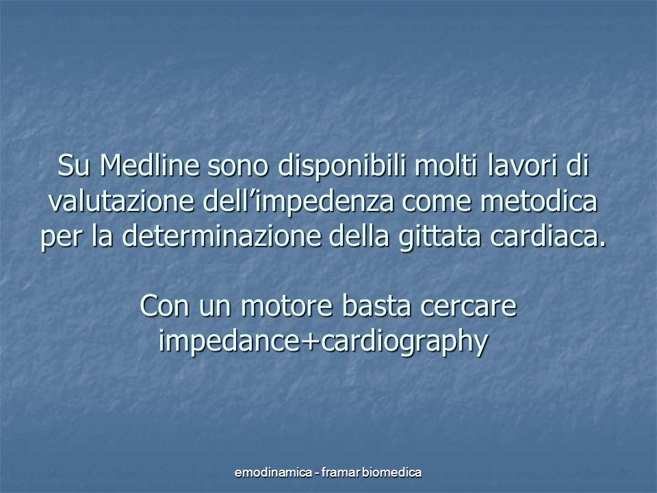 emodinamica - framar biomedica Su Medline sono disponibili molti lavori di valutazione dellimpedenza come metodica per la determinazione della gittata