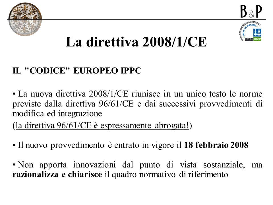La direttiva 2008/1/CE IL
