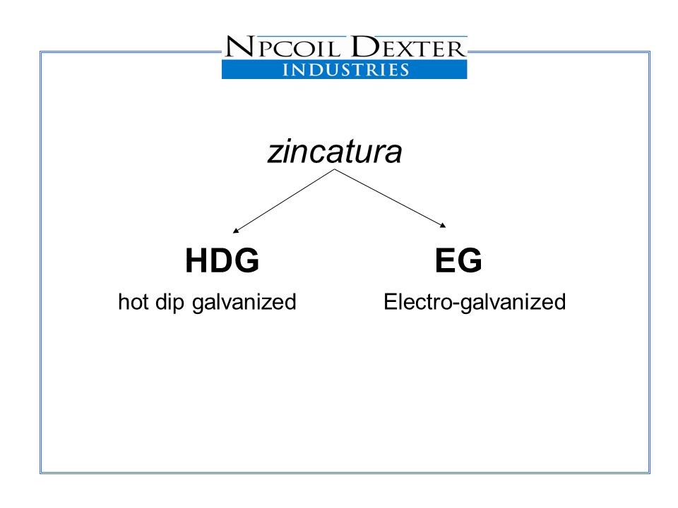 HDGEG zincatura hot dip galvanizedElectro-galvanized