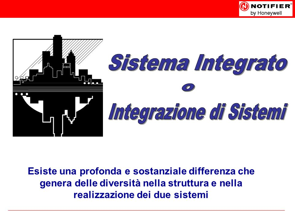 Esiste una profonda e sostanziale differenza che genera delle diversità nella struttura e nella realizzazione dei due sistemi