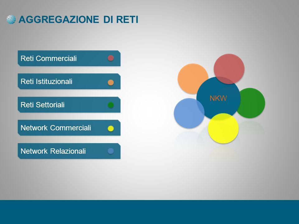 AGGREGAZIONE DI RETI Reti Commerciali Reti Istituzionali Reti Settoriali Network Commerciali Network Relazionali