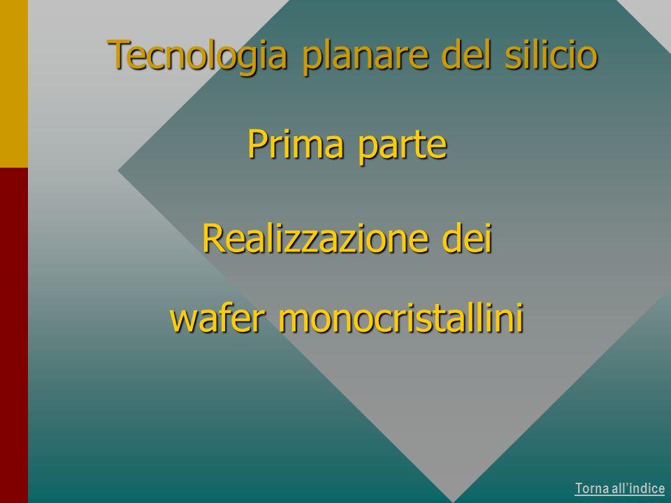 Torna allindice Tecnologia planare del silicio Prima parte Realizzazione dei wafer monocristallini Copertina