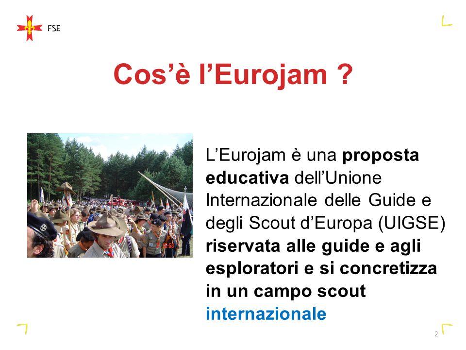2 Cosè lEurojam ? LEurojam è una proposta educativa dellUnione Internazionale delle Guide e degli Scout dEuropa (UIGSE) riservata alle guide e agli es
