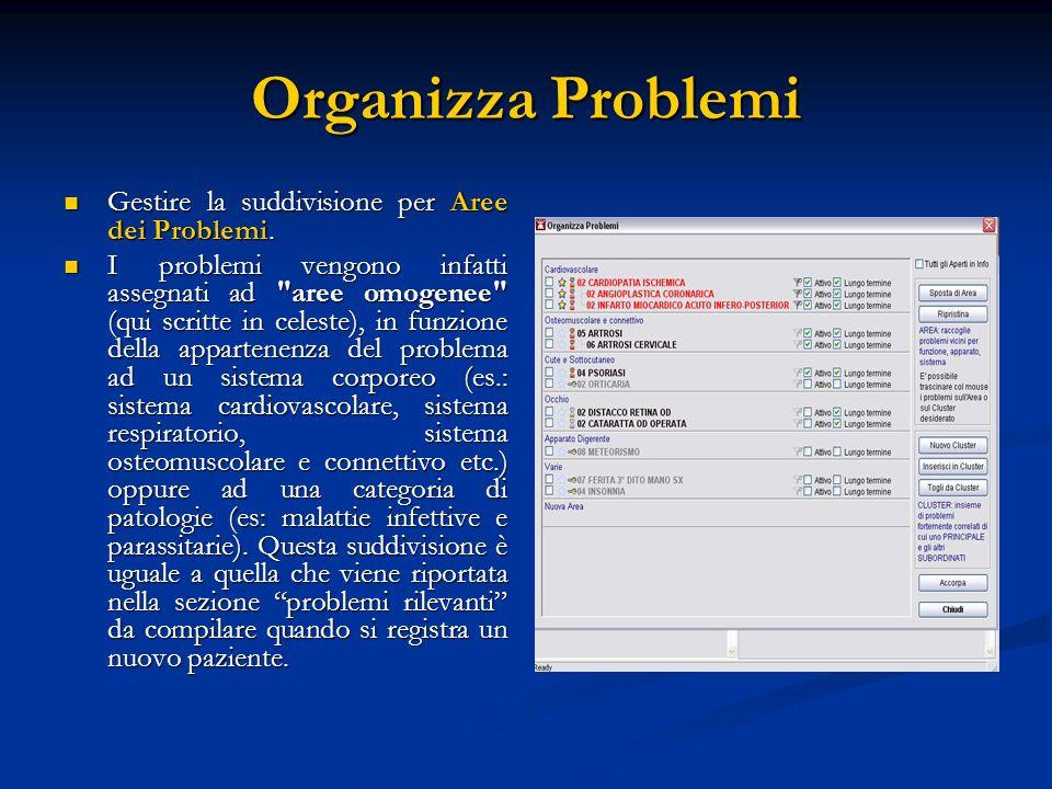 Organizza Problemi Gestire la suddivisione per Aree dei Problemi. Gestire la suddivisione per Aree dei Problemi. I problemi vengono infatti assegnati