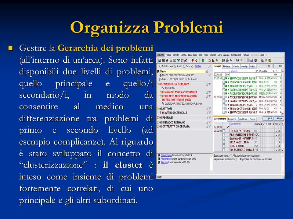 Organizza Problemi Gestire la Gerarchia dei problemi (allinterno di unarea). Sono infatti disponibili due livelli di problemi, quello principale e que