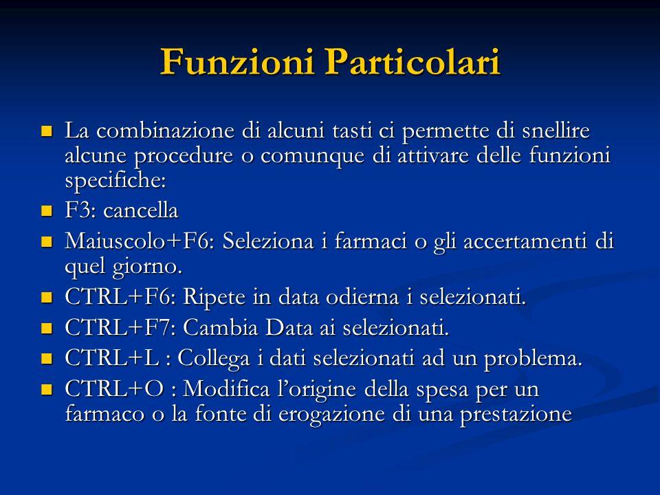 Funzioni Particolari La combinazione di alcuni tasti ci permette di snellire alcune procedure o comunque di attivare delle funzioni specifiche: La com