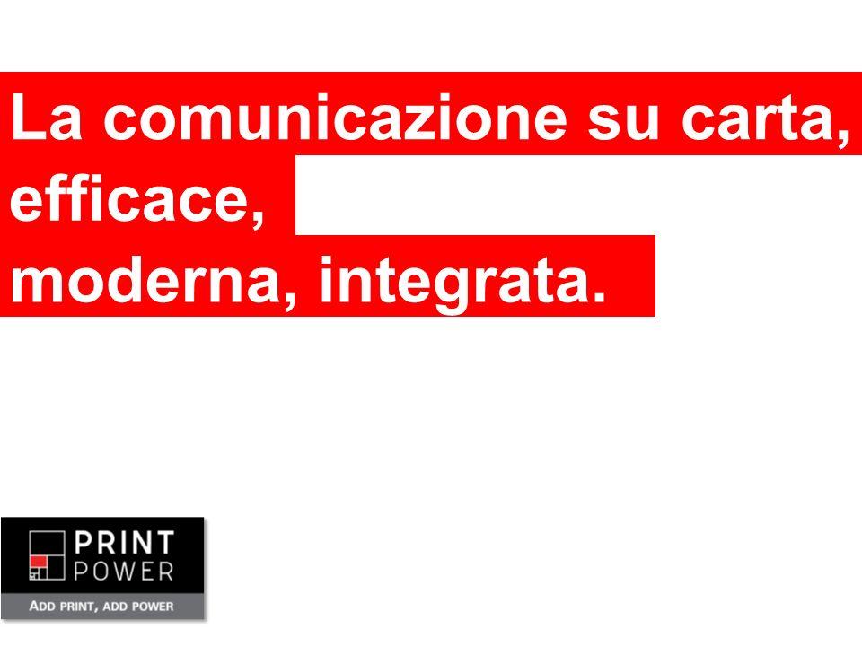 La comunicazione su carta, efficace, moderna, integrata.