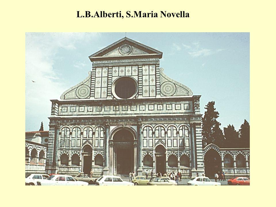 La composizione della facciata della chiesa di S.M.Novella Firenze è fondata sullequilibrio,il bilanciamento, la proporzione e la sim- metria.