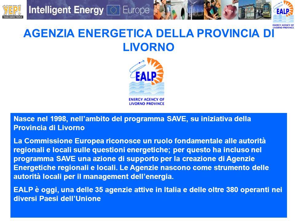 Nasce nel 1998, nellambito del programma SAVE, su iniziativa della Provincia di Livorno La Commissione Europea riconosce un ruolo fondamentale alle au
