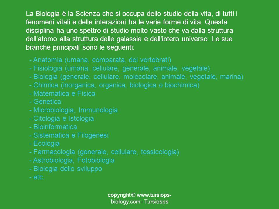 La Biologia è la Scienza che si occupa dello studio della vita, di tutti i fenomeni vitali e delle interazioni tra le varie forme di vita. Questa disc