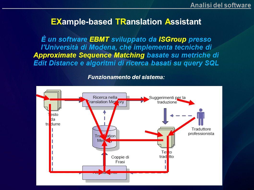 EXample-based TRanslation Assistant È un software EBMT sviluppato da ISGroup presso l'Università di Modena, che implementa tecniche di Approximate Seq