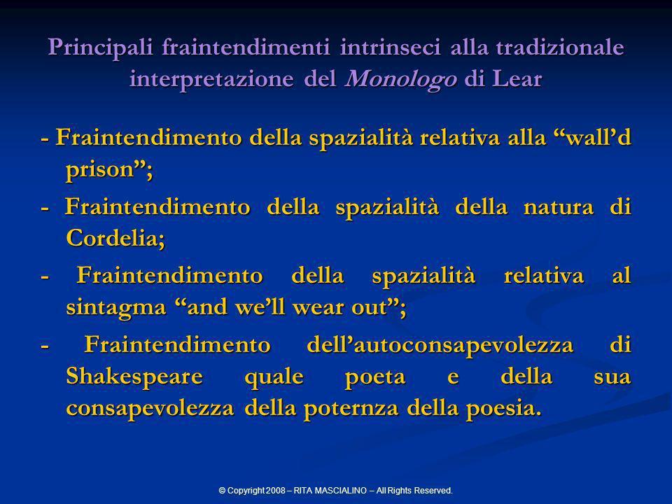 © Copyright 2008 – RITA MASCIALINO – All Rights Reserved. Principali fraintendimenti intrinseci alla tradizionale interpretazione del Monologo di Lear