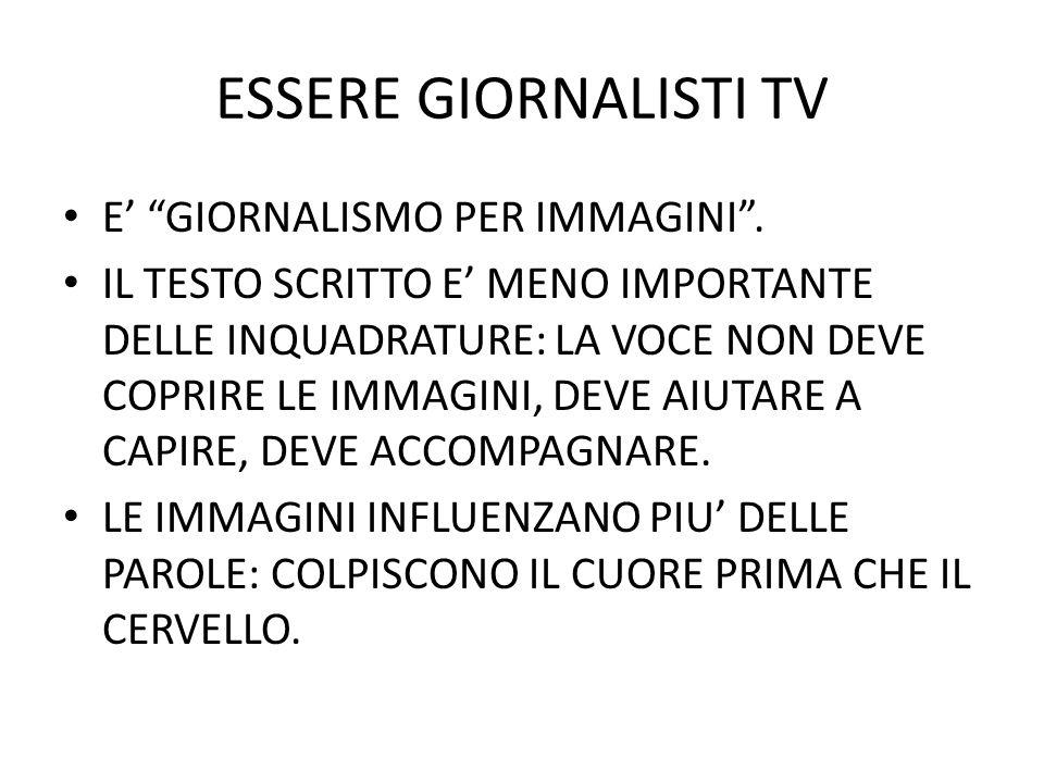 ESSERE GIORNALISTI TV GUARDARE LA TELEVISIONE.DOBBLIGO PER CHI LA FA.