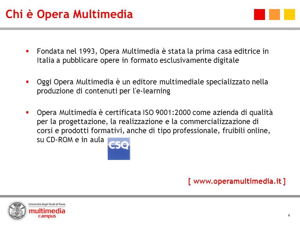 4 Chi è Opera Multimedia Fondata nel 1993, Opera Multimedia è stata la prima casa editrice in Italia a pubblicare opere in formato esclusivamente digi