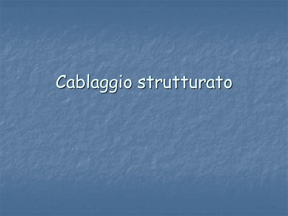 Creare uninfrastruttura di rete,che può essere esteso su più piani o su più edifici viene detto cablaggio.