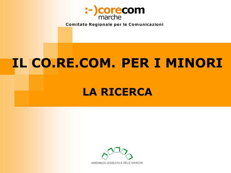IL CO.RE.COM. PER I MINORI LA RICERCA