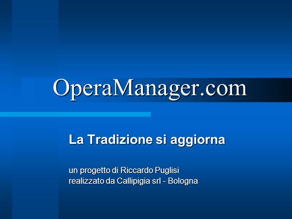 OperaManager.com La Tradizione si aggiorna un progetto di Riccardo Puglisi realizzato da Callipigia srl - Bologna